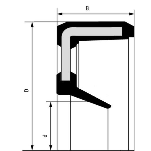 Simering , uszczelniacz 50x62x5 VC