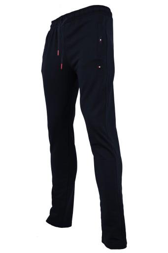 SPODNIE dresowe PROSTE CIENKIE GRANAT JAK TOMY M 10636692934 Odzież Męska Spodnie LA BUZTLA-4