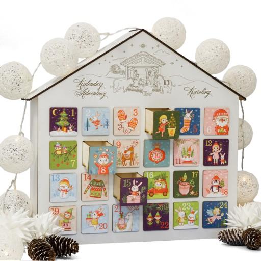 Kalendarz Adwentowy Bialy Dla Dziecka Na Swieta 9748036811 Allegro Pl