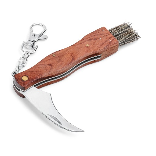 Składany nóż na grzyby kozik ze szczoteczką