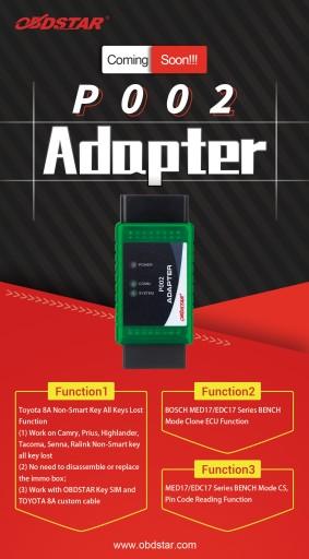 P002 ADAPTER dla TOYOTY OBDSTAR