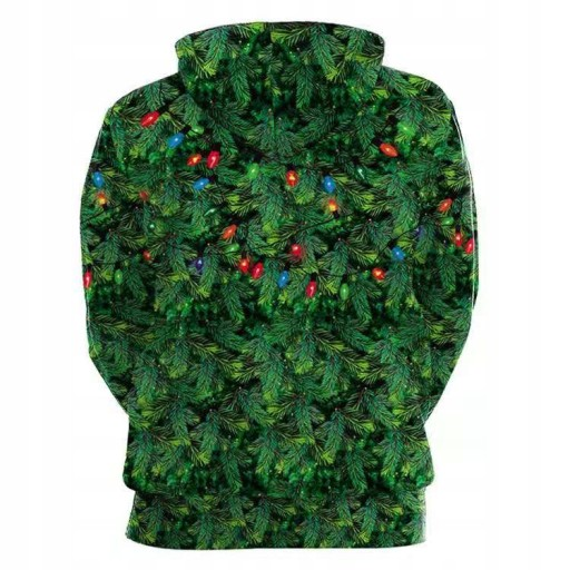 Bluza z kapturem 3D Green Fur Monster Grinch 10689924855 Odzież Męska Swetry TR HCLITR-2
