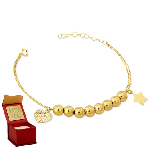 Złota bransoletka Romance