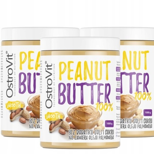 OstroVit Peanut Butter x3 MASŁO ORZECHOWE SMOOTH