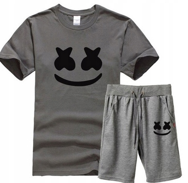 Męski Letni Komplet Marshmello Spodenki + T-shirt 10726422013 Odzież Męska Komplety PM PJSQPM-3