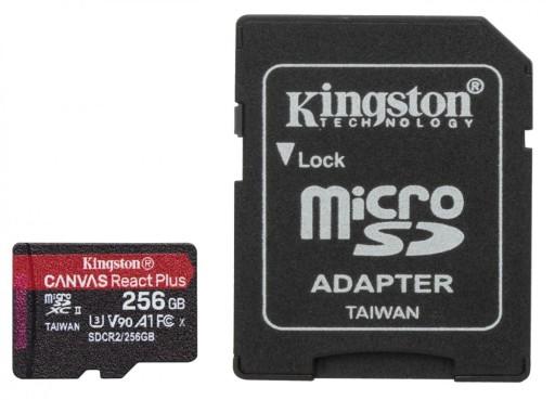Karta pamięci microSD 256GB React Plus 285/165MB