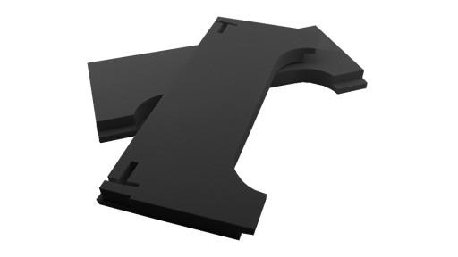 KOMPLET nóżkozaślepki 160mm PEŁNE CZARNE-PCV