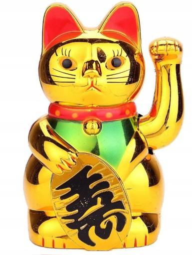 Maneki Neko Figurka Japonski Kot Szczescia 19cm 8716286277 Allegro Pl