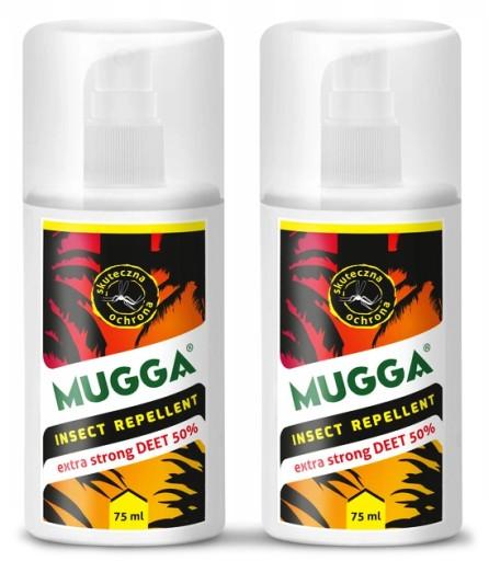 2x Spray Na Komary Kleszcze Mugga Strong 50 Deet 6772199444 Allegro Pl