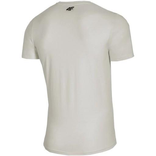 T-shirt Koszulka męska 4F złamana biel 2XL 10713927162 Odzież Męska T-shirty UB RDIGUB-3