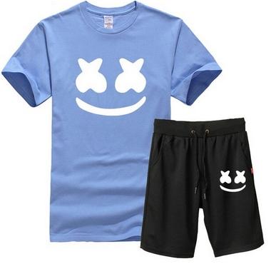 Męski Letni Komplet Marshmello Spodenki + T-shirt 10714622257 Odzież Męska Komplety UA IZTDUA-3