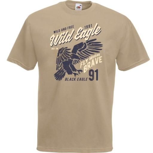 Koszulka orzeł ptak wild eagle prezent nadruk L 10520169221 Odzież Męska T-shirty NA QIDANA-4