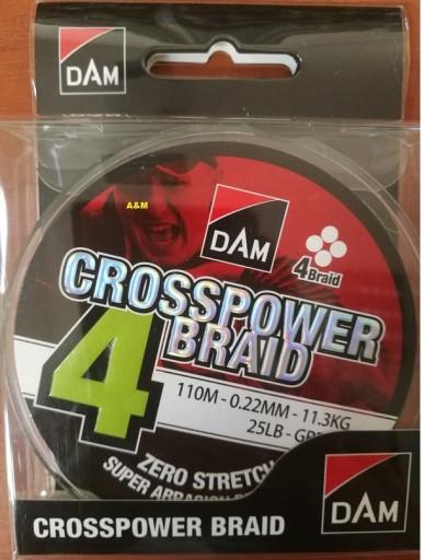 Plecionka D.A.M 0,13mm 6,8kg Crosspower Zielona