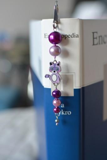 zakładka do książki emaliowany szop fioletowy