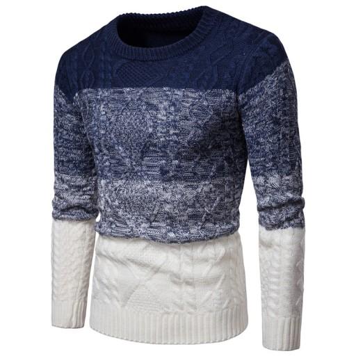 entem Świąteczny sweter z dzianiny Dzianina męska 9814361892 Odzież Męska Swetry QM FOOTQM-3