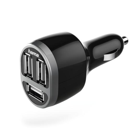 Hama ładowarka samochodowa 3 x USB / 12 V / 5,2 A