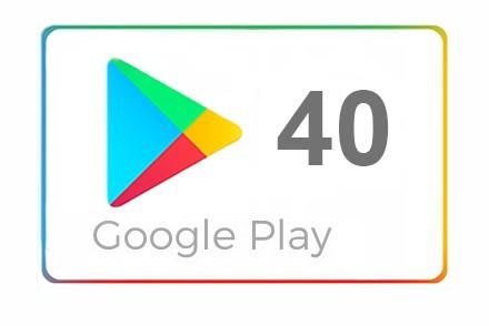 Google Play 40 zł Kod Karta podarunkowa (20 + 20)