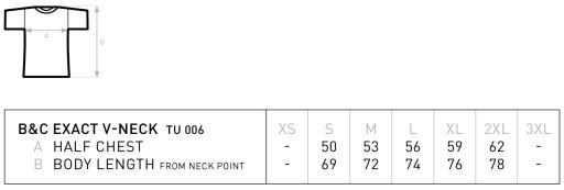 KOSZULKA W SEREK V-NECK B&C L White 9968333715 Odzież Męska T-shirty VI VMCDVI-2