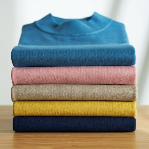 Jesienno-zimowy gruby męski sweter pÓł-wysoki kołn 9989620950 Odzież Męska Swetry TC YGQUTC-2