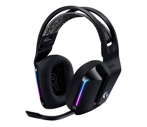 Słuchawki bezprzewodowe Logitech G733 LED Czarne