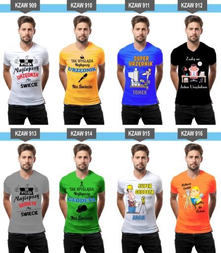 Koszulka z nadrukiem PREZENT dla złota rączka 10250230927 Odzież Męska T-shirty AJ XWGMAJ-5