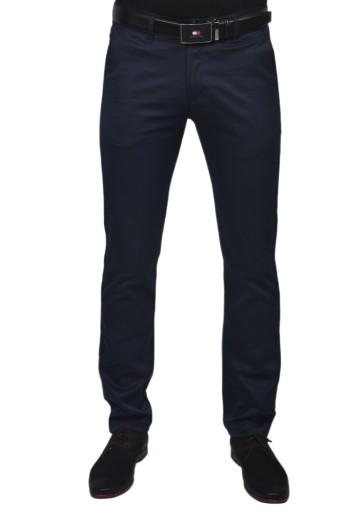 Eleganckie spodnie męskie granatowe casual r.33/34 9121539881 Odzież Męska Spodnie YU JYAKYU-5