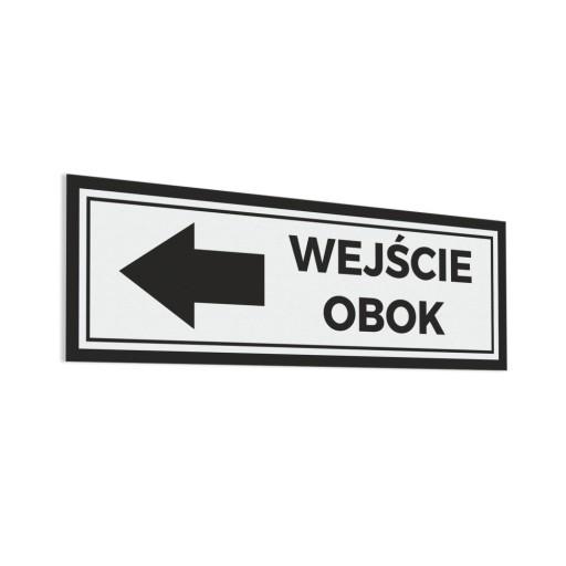 Wejście Obok - Naklejka na drzwi 30x10