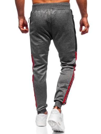SPODNIE MĘSKIE DRESOWE GRAFITOWE K20013 DENLEY_2XL 9951540682 Odzież Męska Spodnie QA JTIPQA-6
