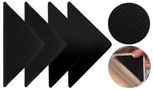 Podkładki antypoślizgowe pod dywan 4 szt