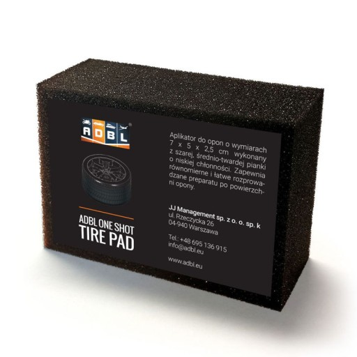 ADBL ONE SHOT TIRE PAD GĄBKA DO OPON 7x5x2.5 cm