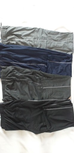 SPODNIE DRESOWE MĘSKIE SPORTOWE CIENKIE DUŻE 4 XL 9472609470 Odzież Męska Spodnie ZF PVHOZF-2