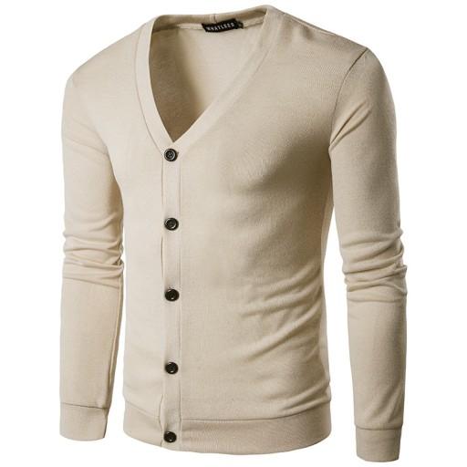 i sweter rozpinany z kołnierzykiem Dzianina męska 10611115323 Odzież Męska Swetry KD ZCQRKD-4