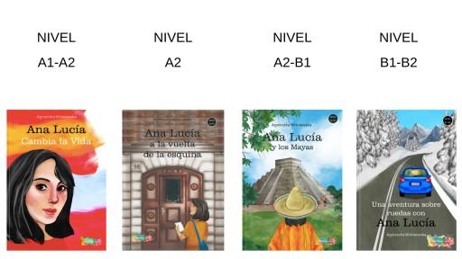 Pakiet cztrech książek po hiszpańsku od A1-B2