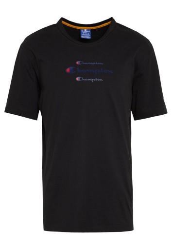 CHAMPION T-SHIRT MĘSKI CZARNY LOGO CASUAL S 2BAE 10783097364 Odzież Męska T-shirty VT SVWBVT-5