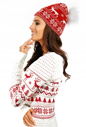 Sweter Swiateczny Renifery Prezent Kolory Gratisy 7684645202 Allegro Pl
