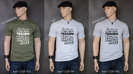koszulka NAJLEPSZY TEŚĆ TEŚCIA SUPER MOC prezent 9899960952 Odzież Męska T-shirty MT EOHAMT-9