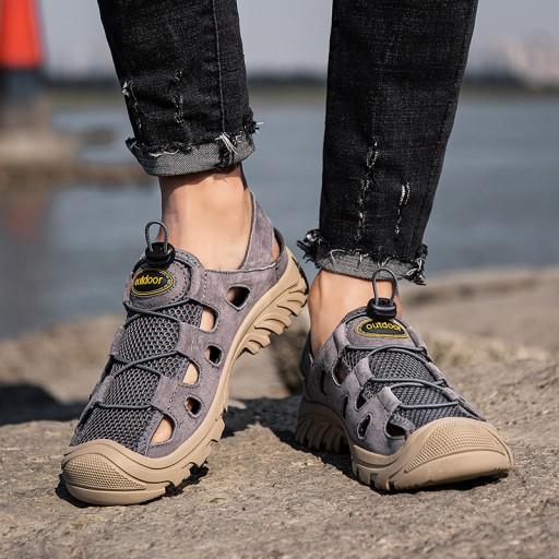Sandały buty kapcie trekkingowe męskie skÓrzane 10097116881 Obuwie Męskie Męskie YK KTLYYK-8