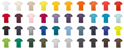 Koszulka B&C #190 Świetna jakość! roz. XS-XXL 10415141858 Odzież Męska T-shirty HY PMOHHY-3