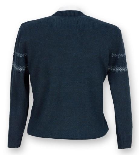 Sweter męski granatowy melanż SW005 XL 9968452642 Odzież Męska Swetry VX TEDVVX-2