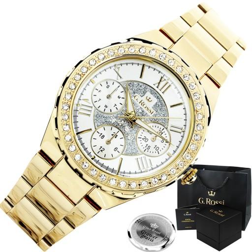 Zegarek damski złoty G.ROSSI - CARMEN zegarki