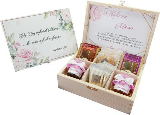 Zestaw Prezent Dzien Mamy Taty Miod Herbata Ciastk 9211175843 Allegro Pl