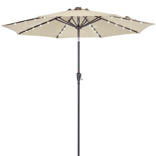 Duzy Parasol Ogrodowy O Srednicy 270 Cm Led 9264330110 Allegro Pl
