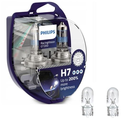 2x Philips H7 RACING VISION GT200 +200% + GRATIS