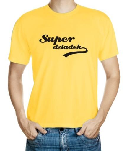 KOSZULKA SUPER DZIADEK Z FAJKĄ 7914130433 Odzież Męska T-shirty QA RXMWQA-3