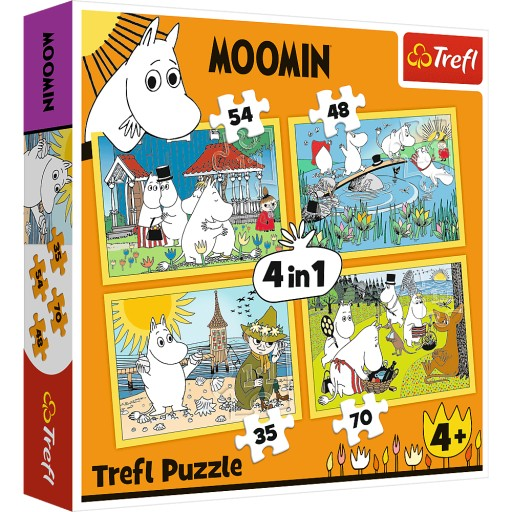 Puzzle 4w1 - Wesoły dzień Muminków 34368