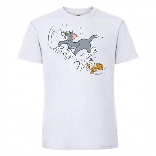 T-SHIRT KOSZULKA TOM I JERRY 9782034672 Odzież Męska T-shirty JX VOVAJX-2