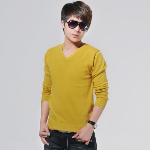 sweter sweter modne męskie ubrania Dzianina męska 9814371233 Odzież Męska Swetry IM MRJUIM-6