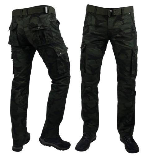 Spodnie bojówki moro robocze 969 r.33 pasek gratis