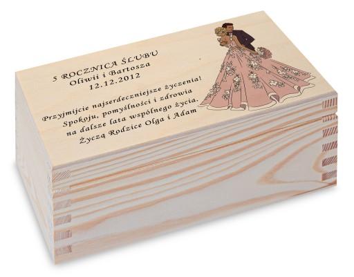 Prezent Rocznica Ślubu pudełko herbaciarka wzory