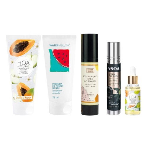 Zestaw naturalnych kosmetyków odżywczych do twarzy